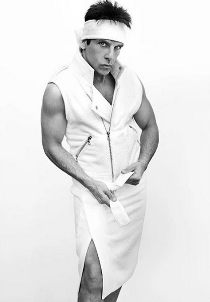 («Derek Zoolander» i Mario Testinos «Towel Series»)