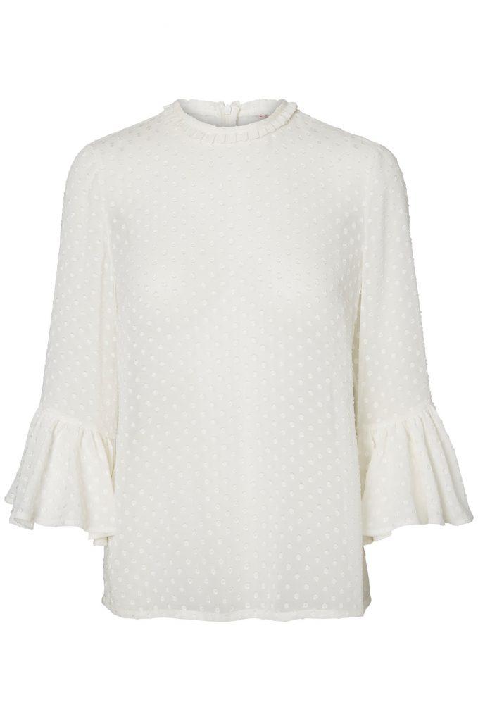 100% resirkulert polyester - VERO MODA by Jenny Skvavlan, kr. 399,95.
