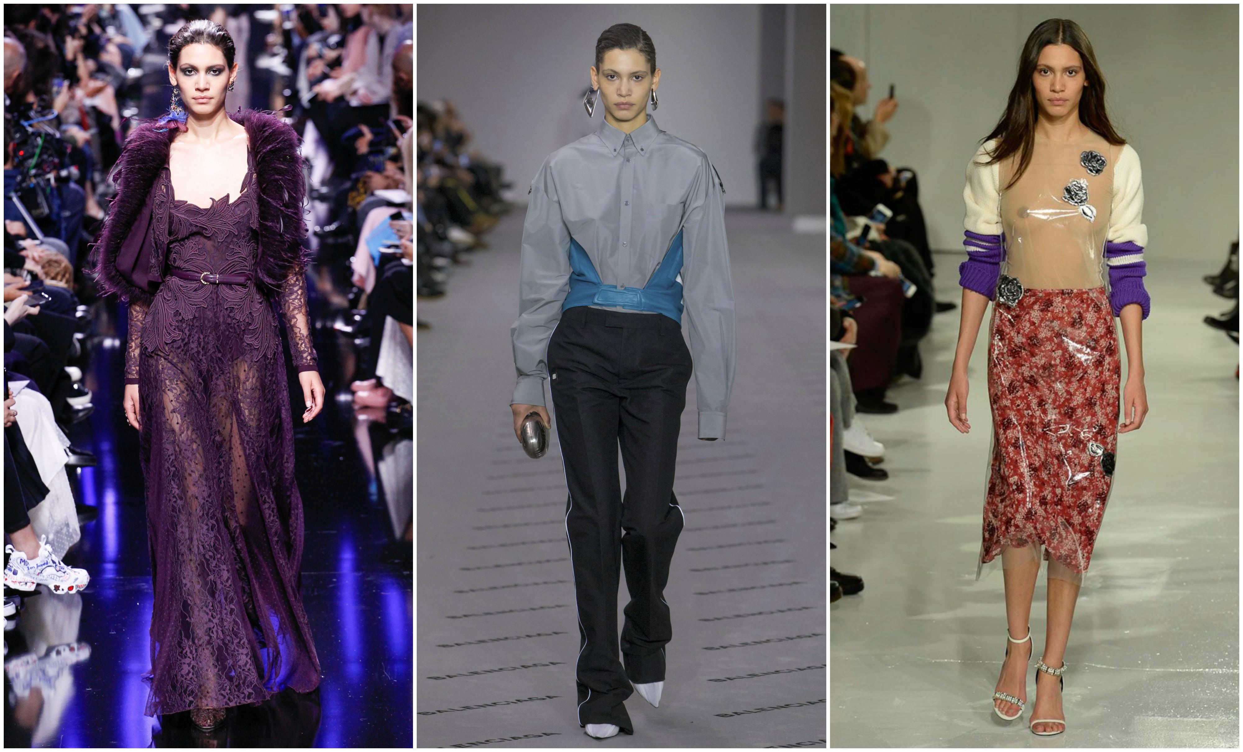 F.v: Elie Saab FW'17, Balenciaga FW'17 og Calvin Klein FW'17.