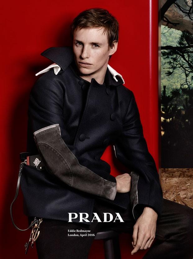 Bilde fra Prada sin kampanje med Eddie Redmayne FW'16