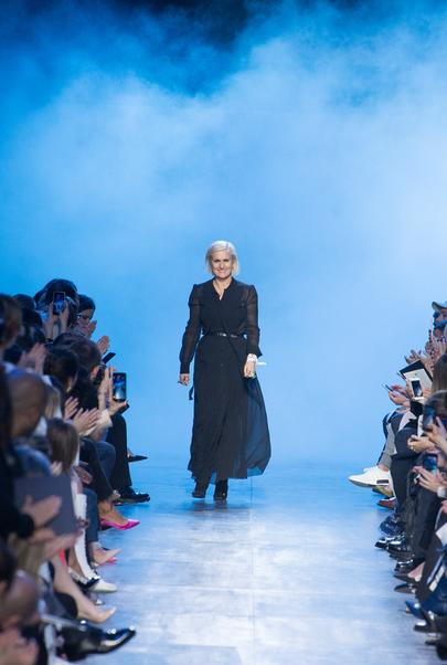 Maria Grazia Chiuru under visningen av Christian Diors FW'17-kolleksjon