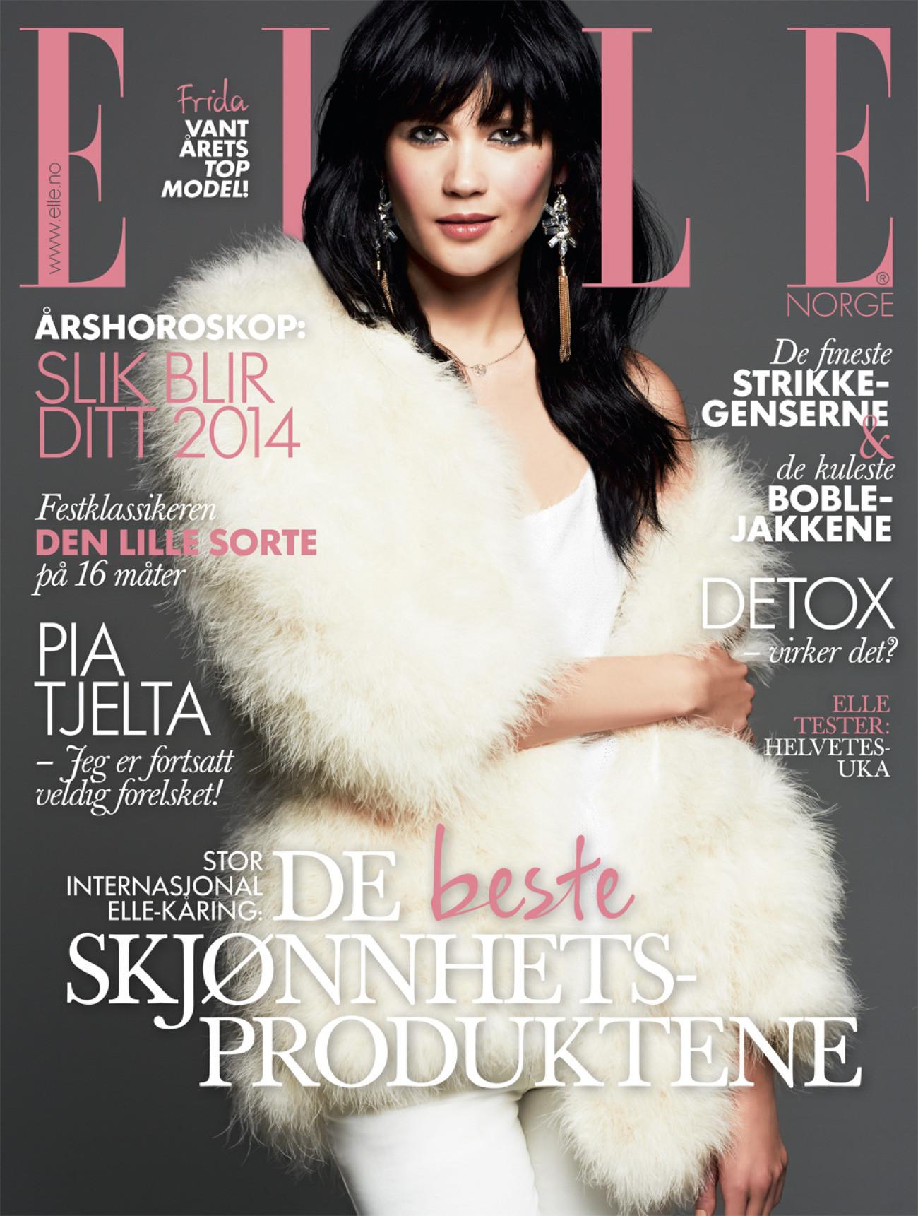 Bilde av Frida Børli Solaker på forsiden av Elle Norge