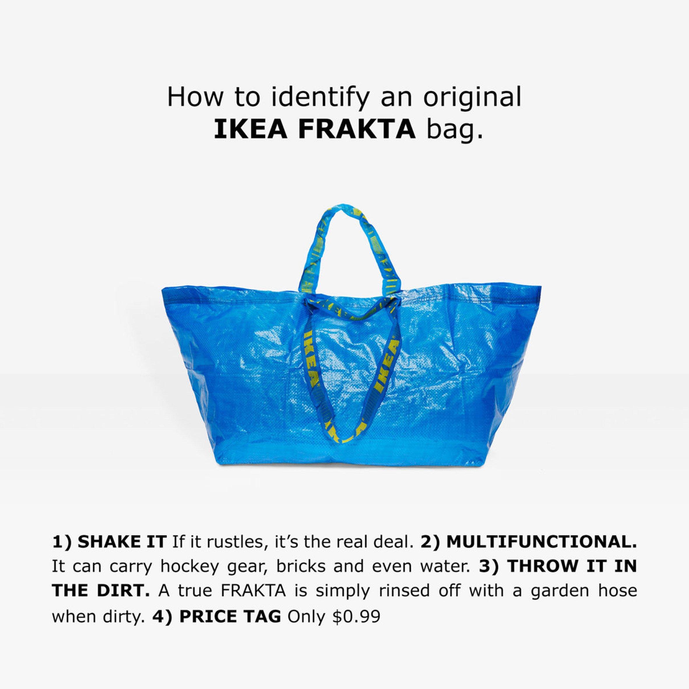 Bilde av Ikea sin originale blå bag