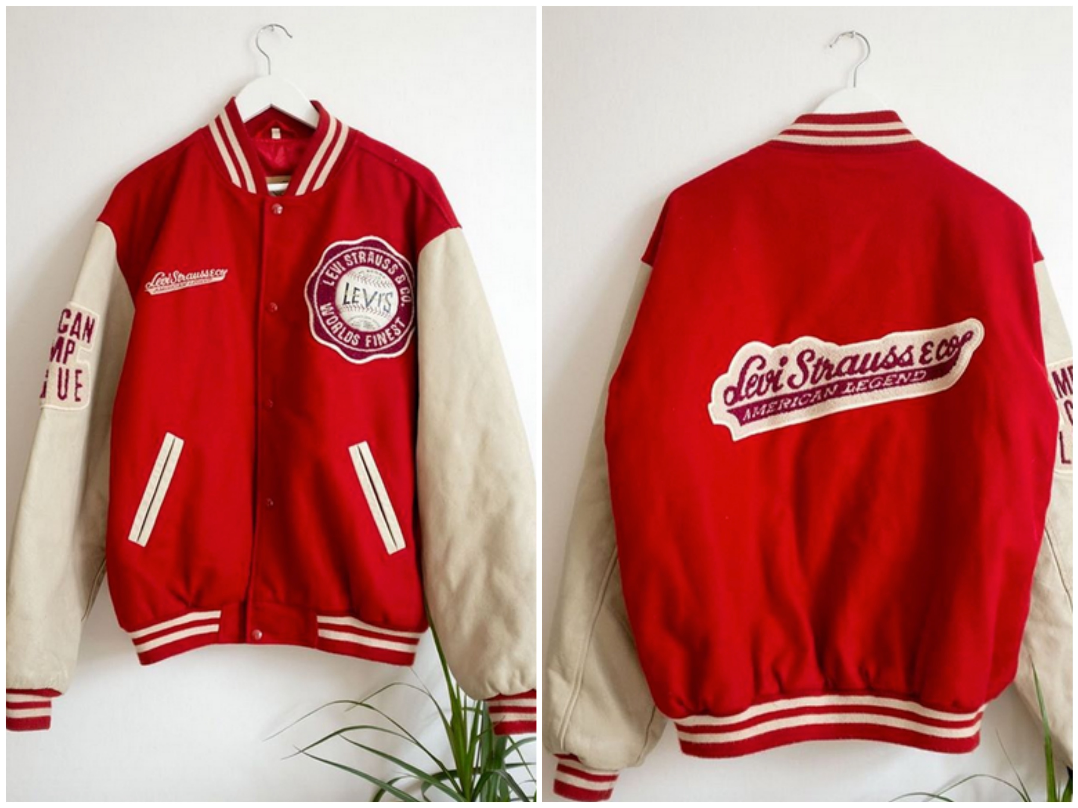 Vintage rød Levis-jakke