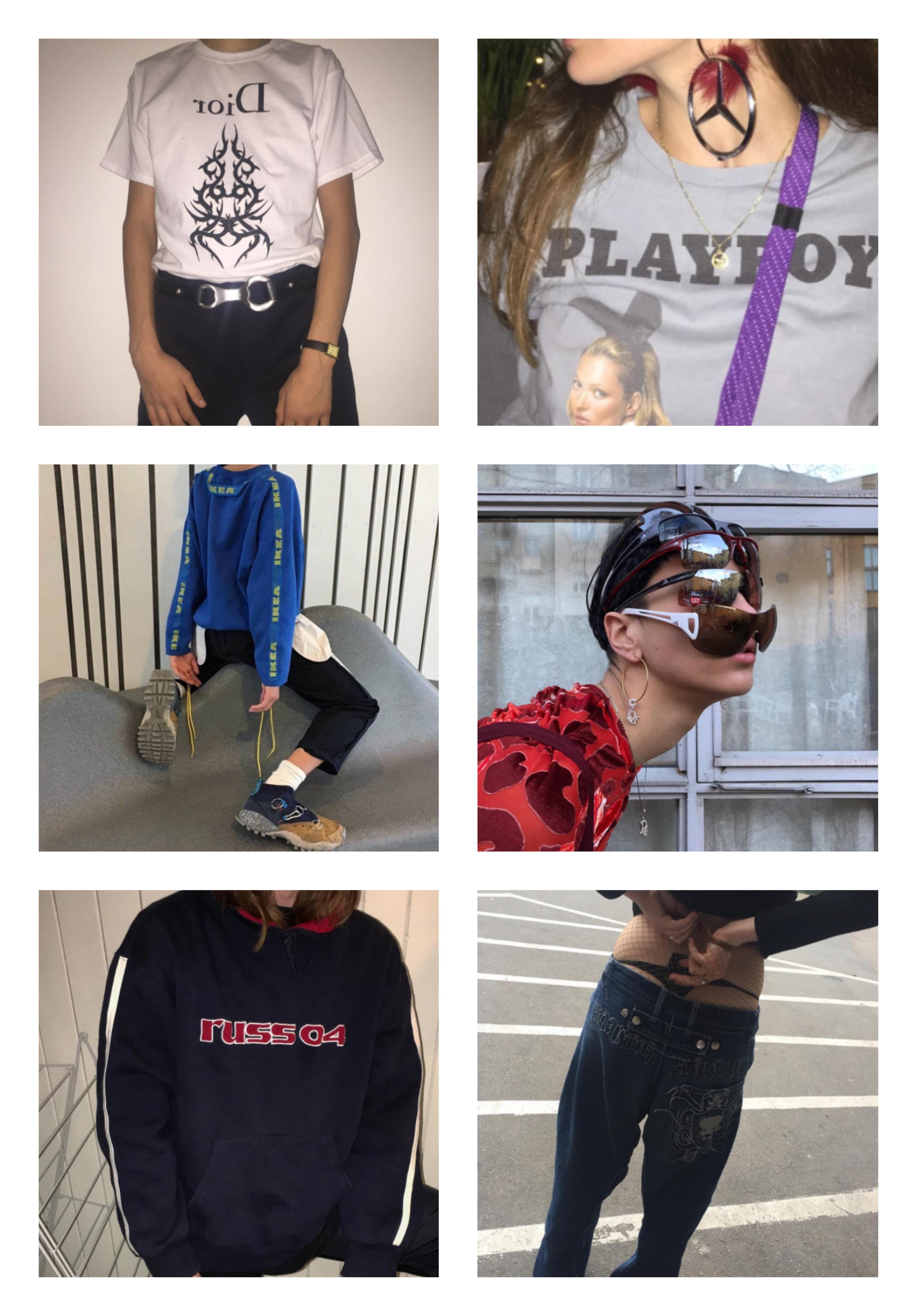 Eksempelbilder fra Insta på dagens anti-fashion