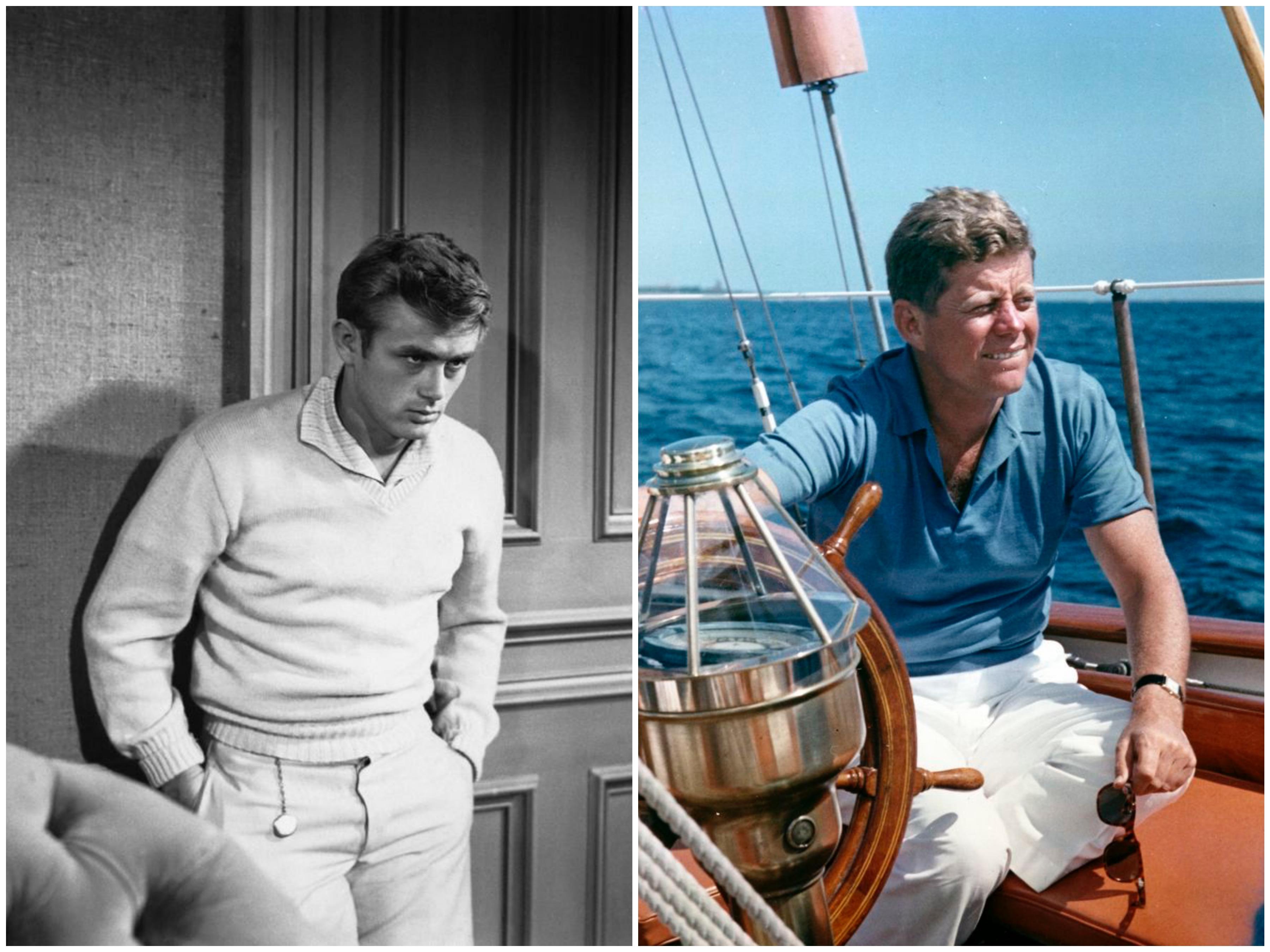 Jeames Dean og John F. Kennedy i hvite bukser