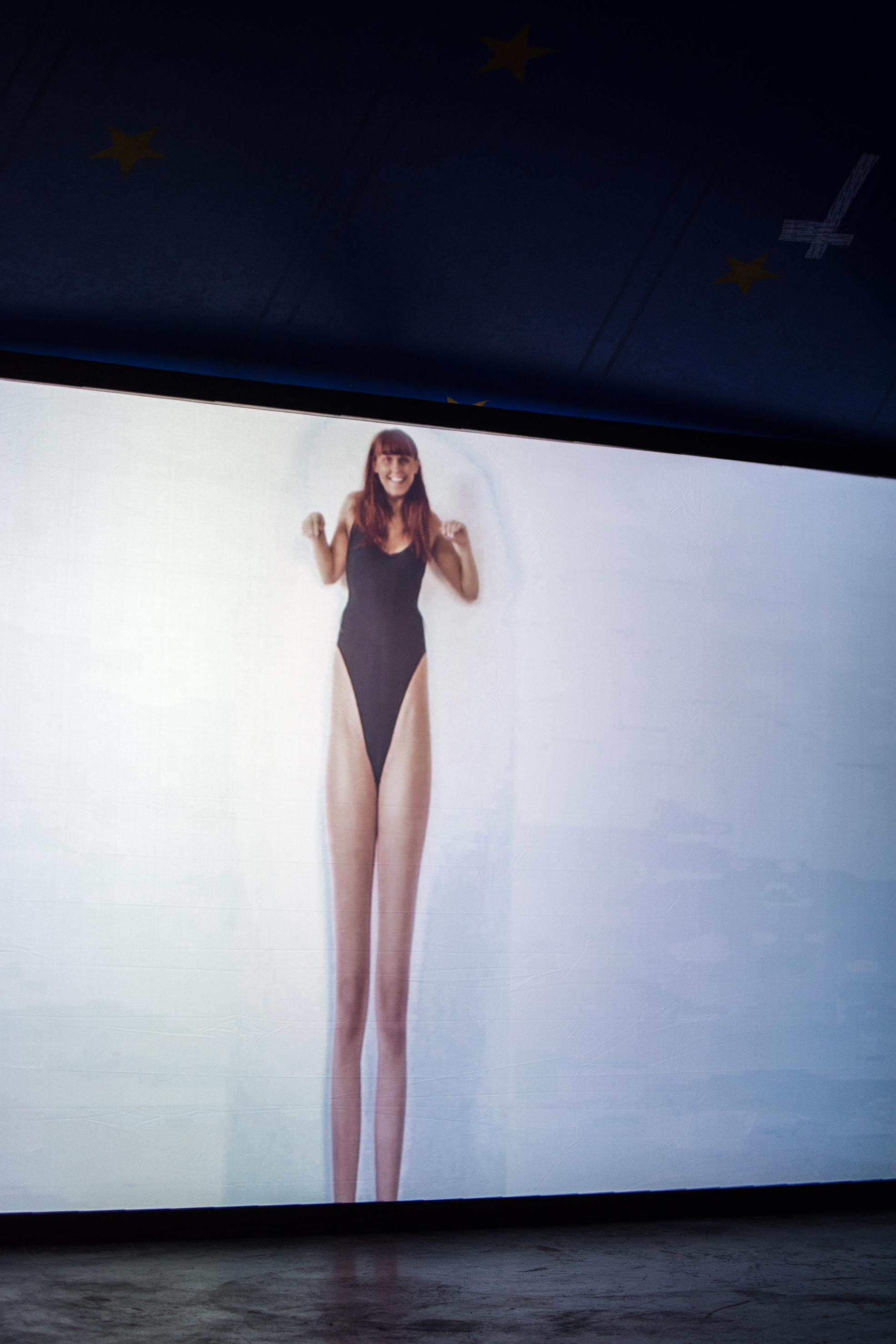 Foto fra et video fra utstillingen