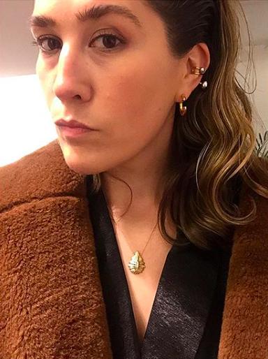 Ida Einarsdottir i brun jakke