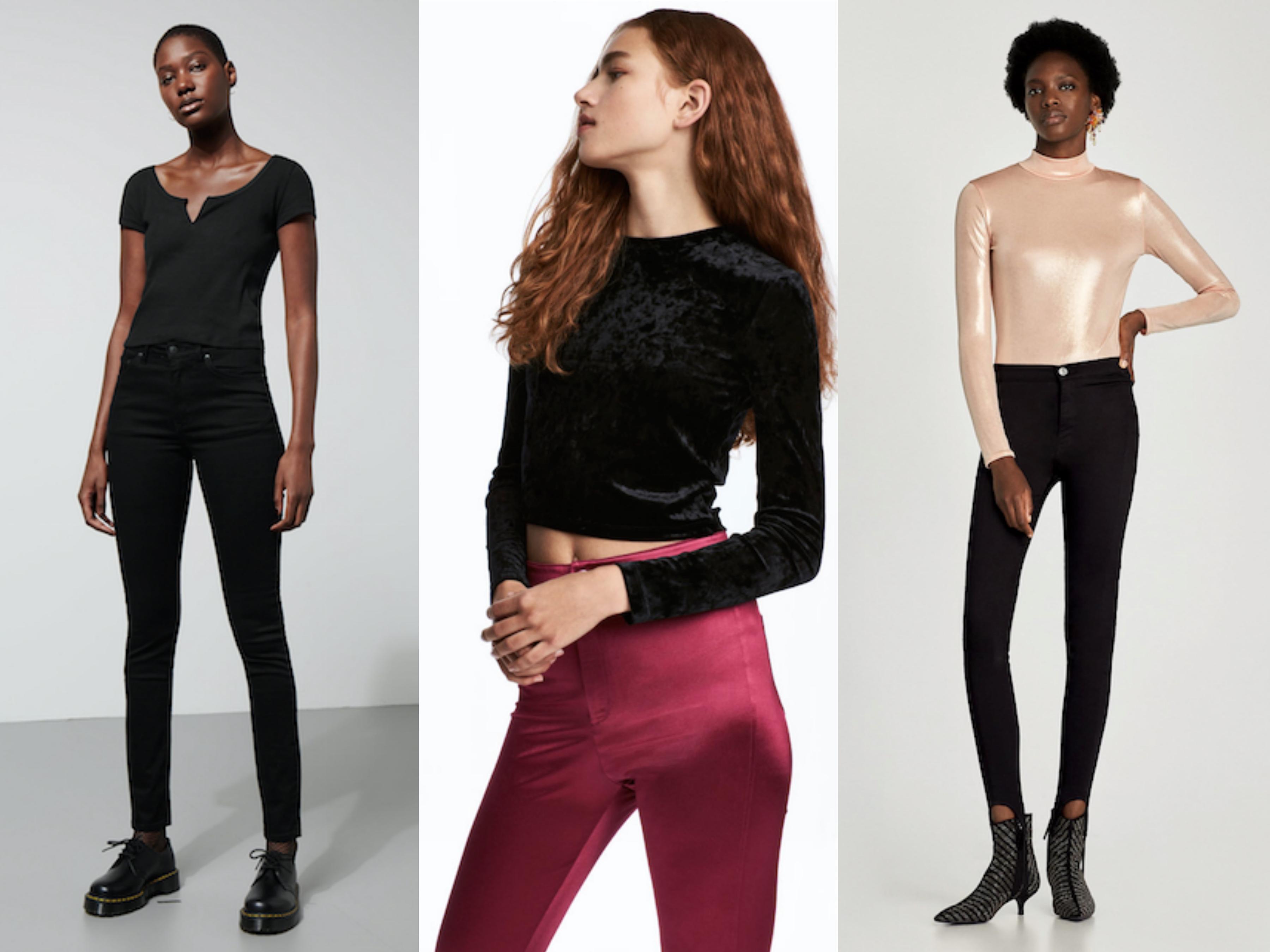 Tre overdeler fra Zara, Weekday og H&M