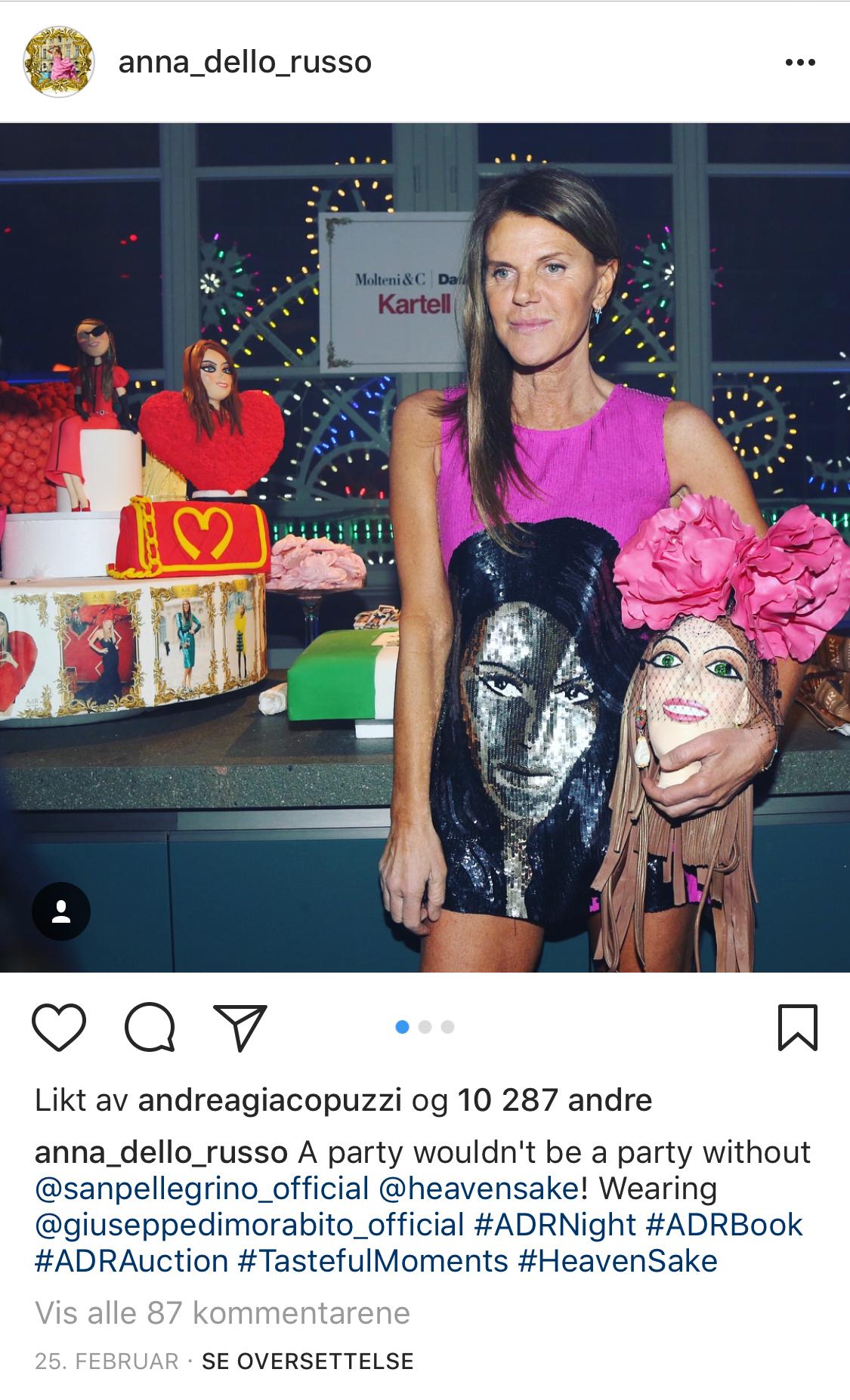 Anna Wintour kastet seg på Gucci Head Challenge på Instagram
