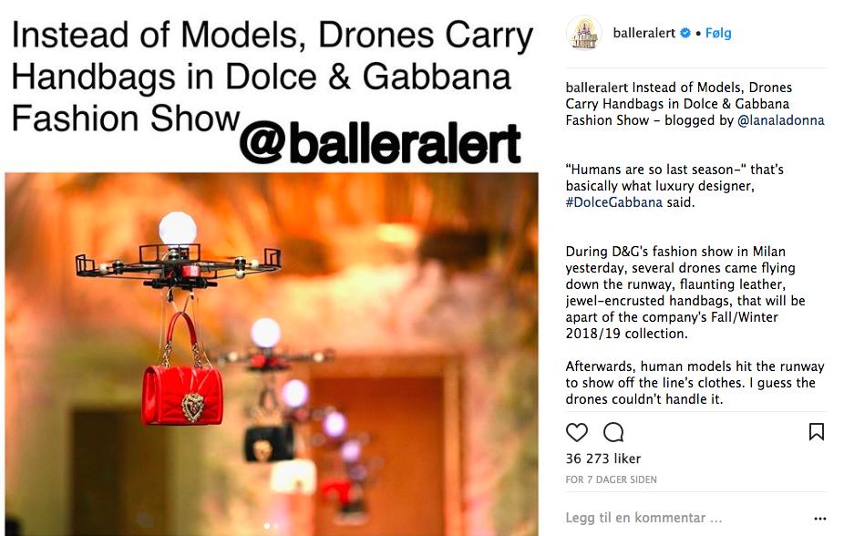 Dolce & Gabbana med droner på catwalken under Milano Fashion Week