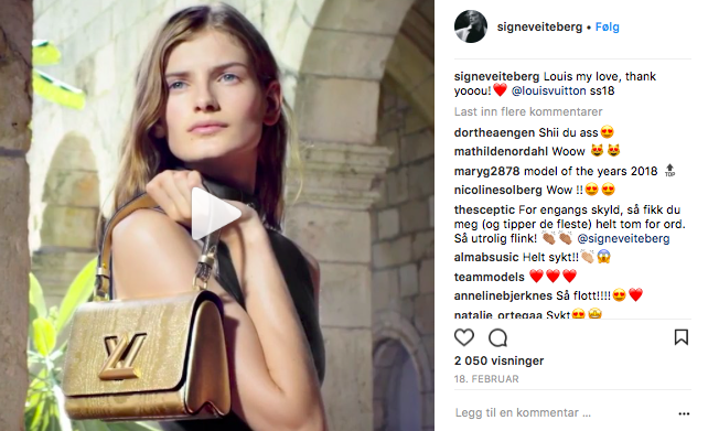 Signe Veiteberg for Louis Vuitton SS18