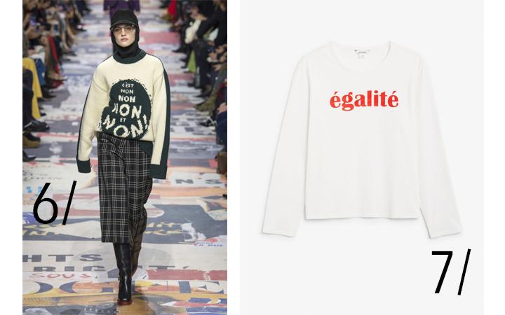 Statement-t-skjorter fra Dior og Monki
