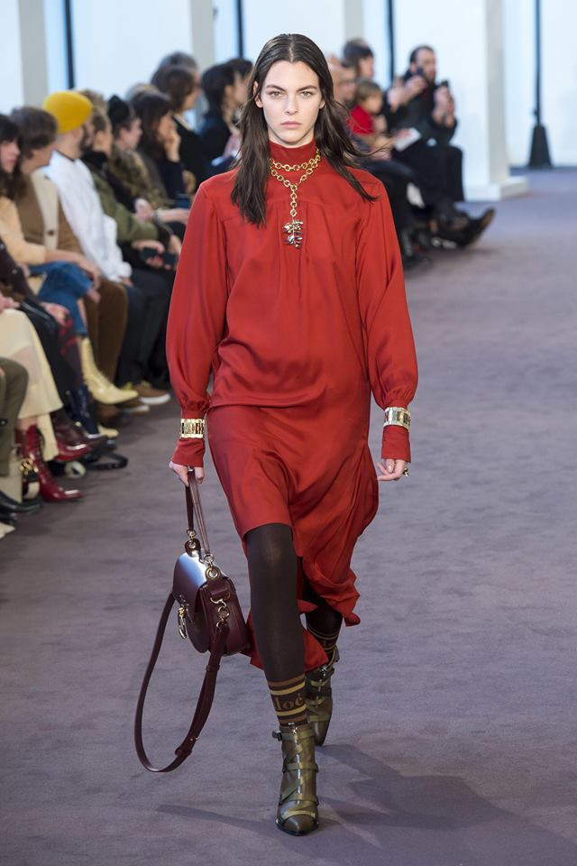 Chloe sin FW18-visning under moteuken i Paris