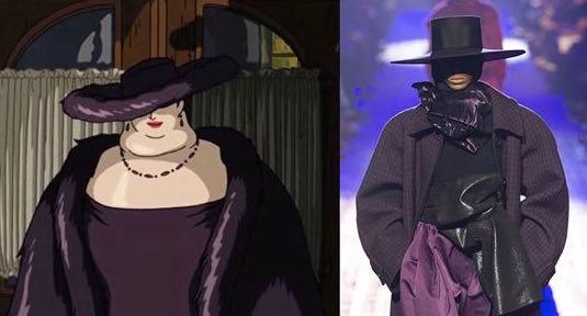 Marc Jacobs sammenliknes med den japanske animasjonsfilmen Howl's Moving Castle.