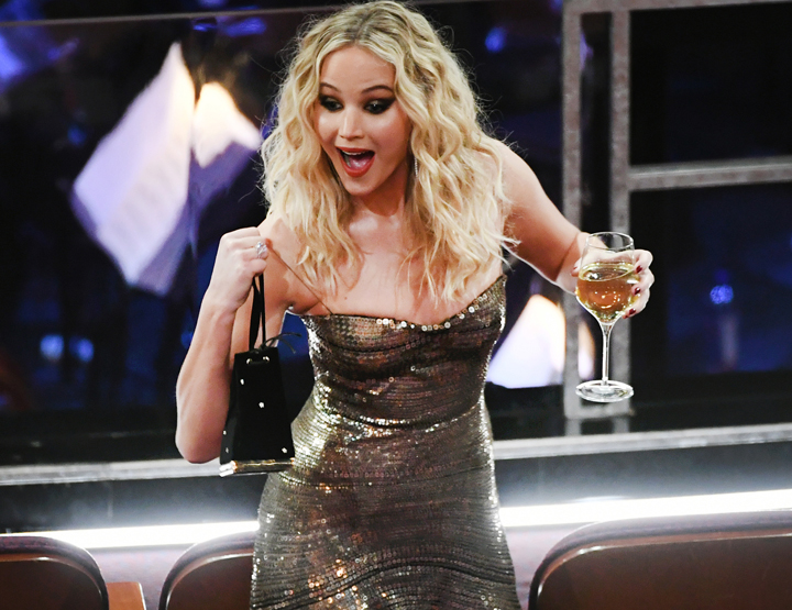 Jennifer Lawrence under Oscar-utdelingen 2018
