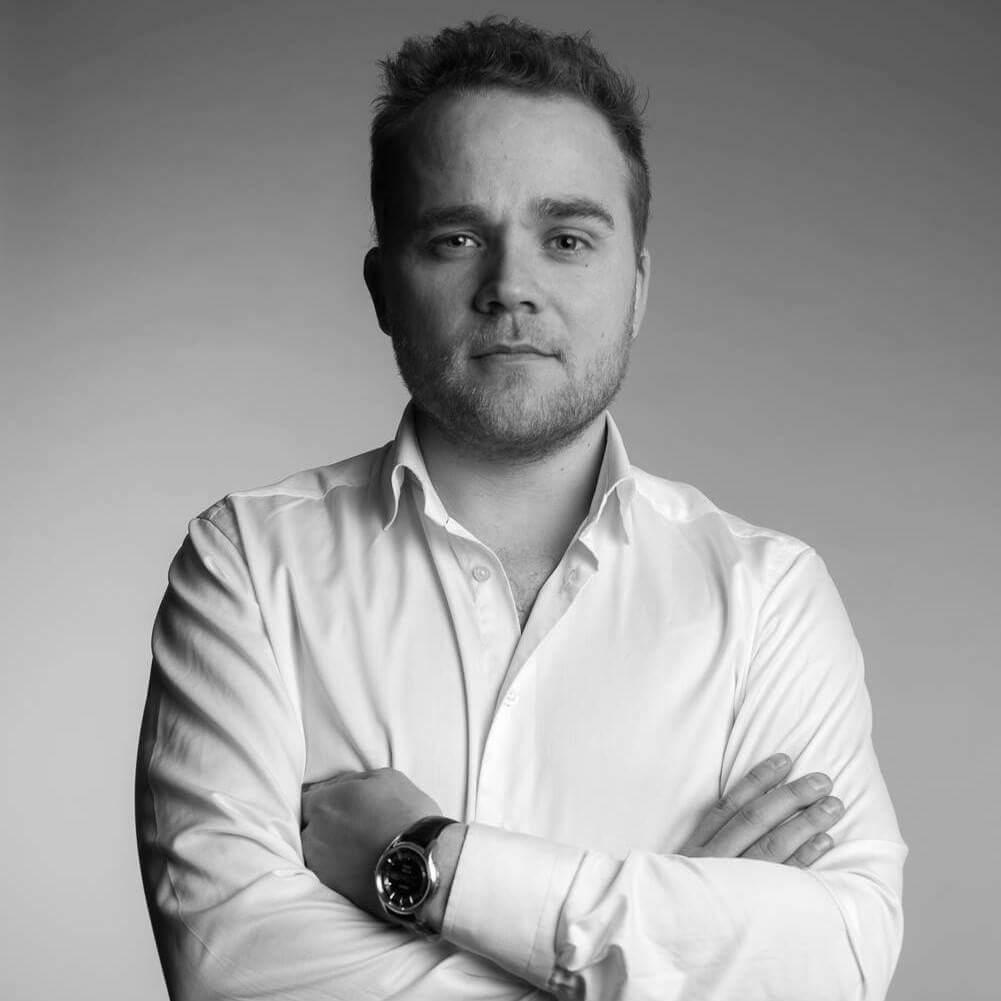 Redaksjonssjef for Finansavisen Premium, Marius Mørch Larsen. Foto: Camilla Andersen