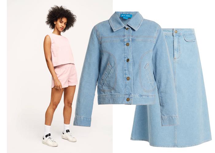 78491132 ... MIDT PÅ TREET: Shorts i kord fra The Cords ca kr 970, jakke og skjørt i  kord fra M.I.H Jeans ...