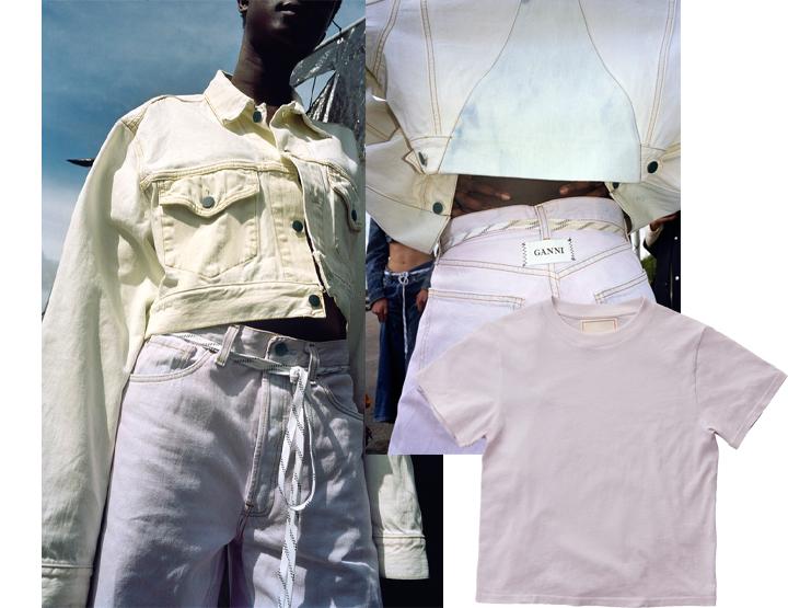 1b2eaa2b Jeans fra Ganni via Net-a-porter ca kr 3580 kr, t-skjorte fra Jeanerica kr  595.