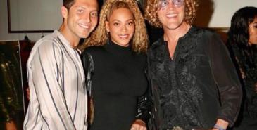 Peter Dunas med Beyonce. Dundas åpner nå butikk i Los Angeles.