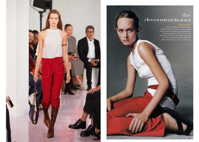 røde bukser på luksus og budsjett