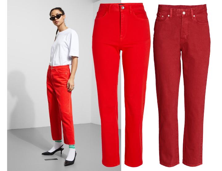 røde bukser er blant vårens trender