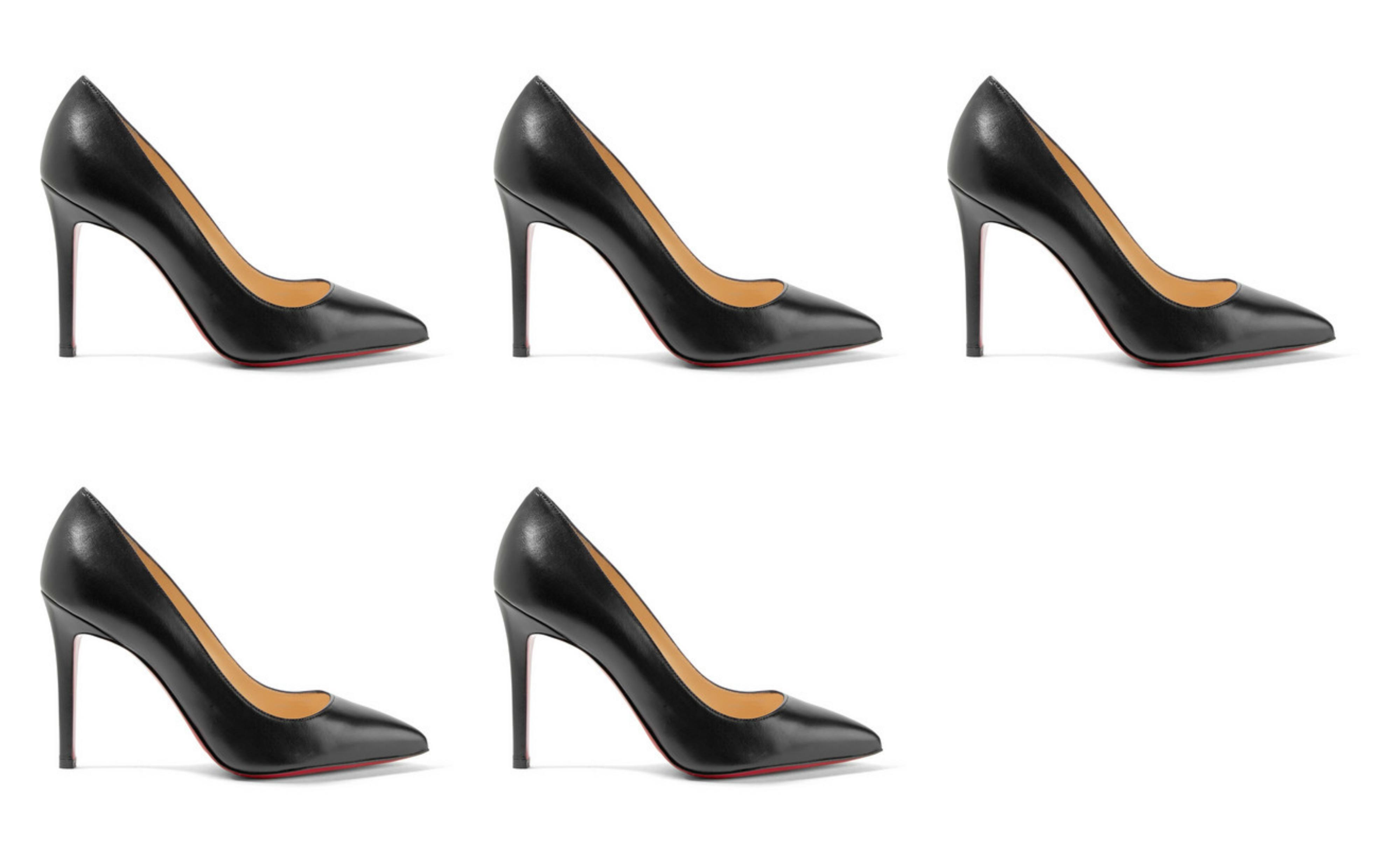 5 par Christian Louboutin «Pigalle 100 leather pumps»