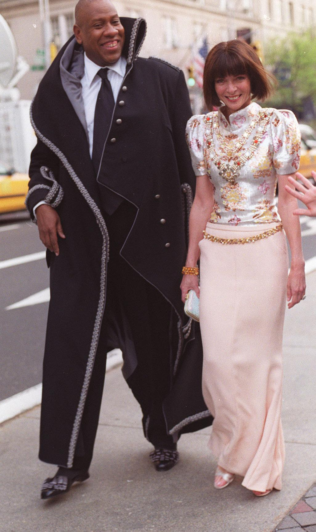 André Leon Talley og Anna Wintour. Foto: Bill Cunningham/New York Times