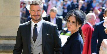 David og Victoria Beckham på kongelig bryllup i London
