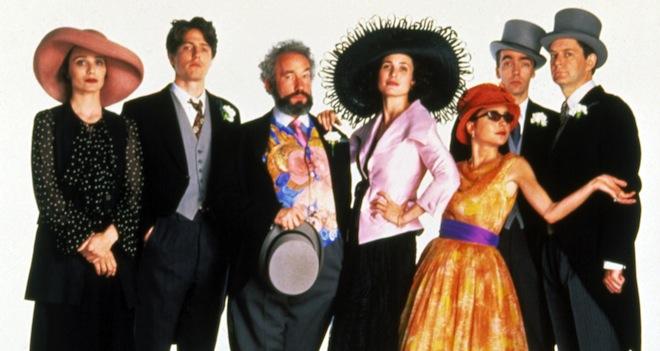 Bilde fra den romantiske komedien Four Weddings and a funeral