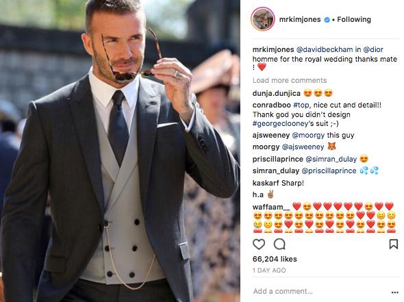 David Beckham i Kim Jones for Dior Homme