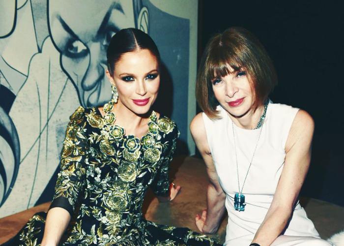 Marchesa-designer og Anna Wintour