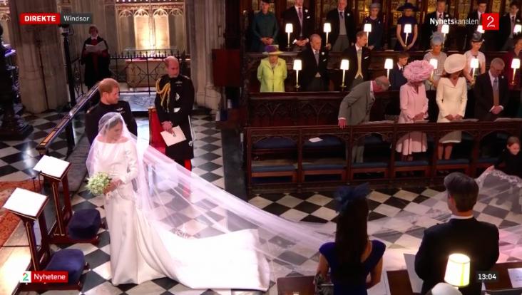 Meghan Markle og prins Harry på bryllupsdagen