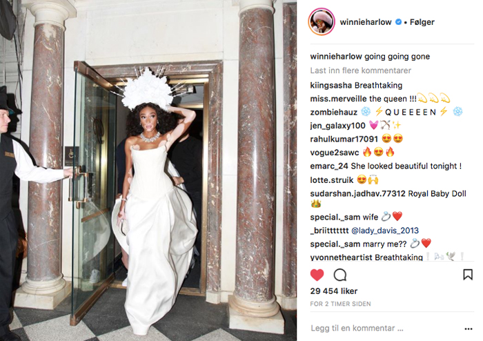 Winnie Harlow i Tommy Hilfiger under Met Gala