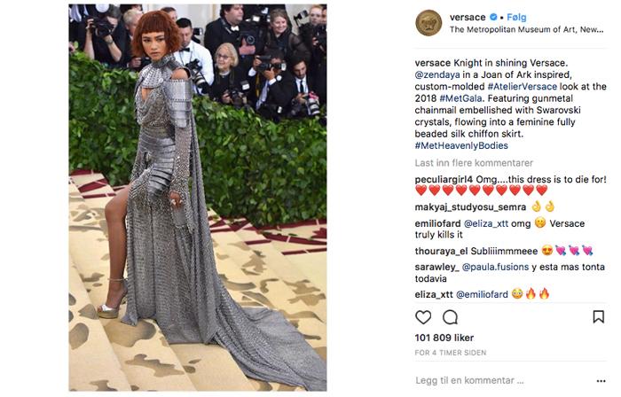 Zendaya i Versace under Met Gala