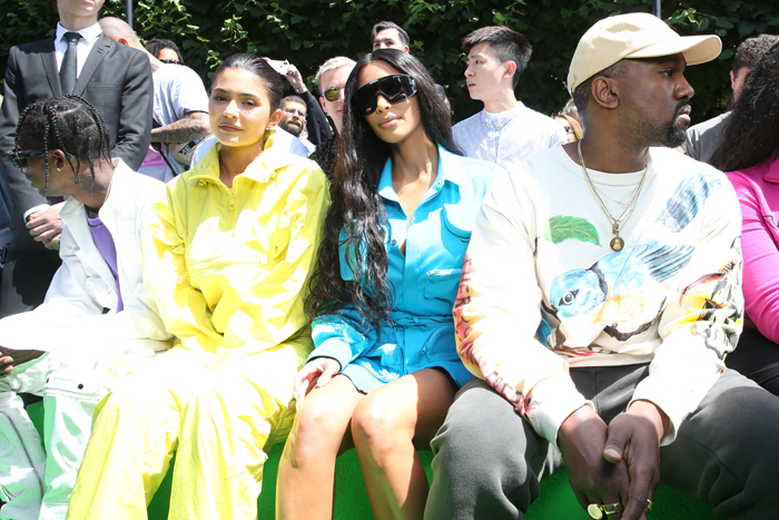 Kylie Jenner, Kim Kardashian West og Kanye West