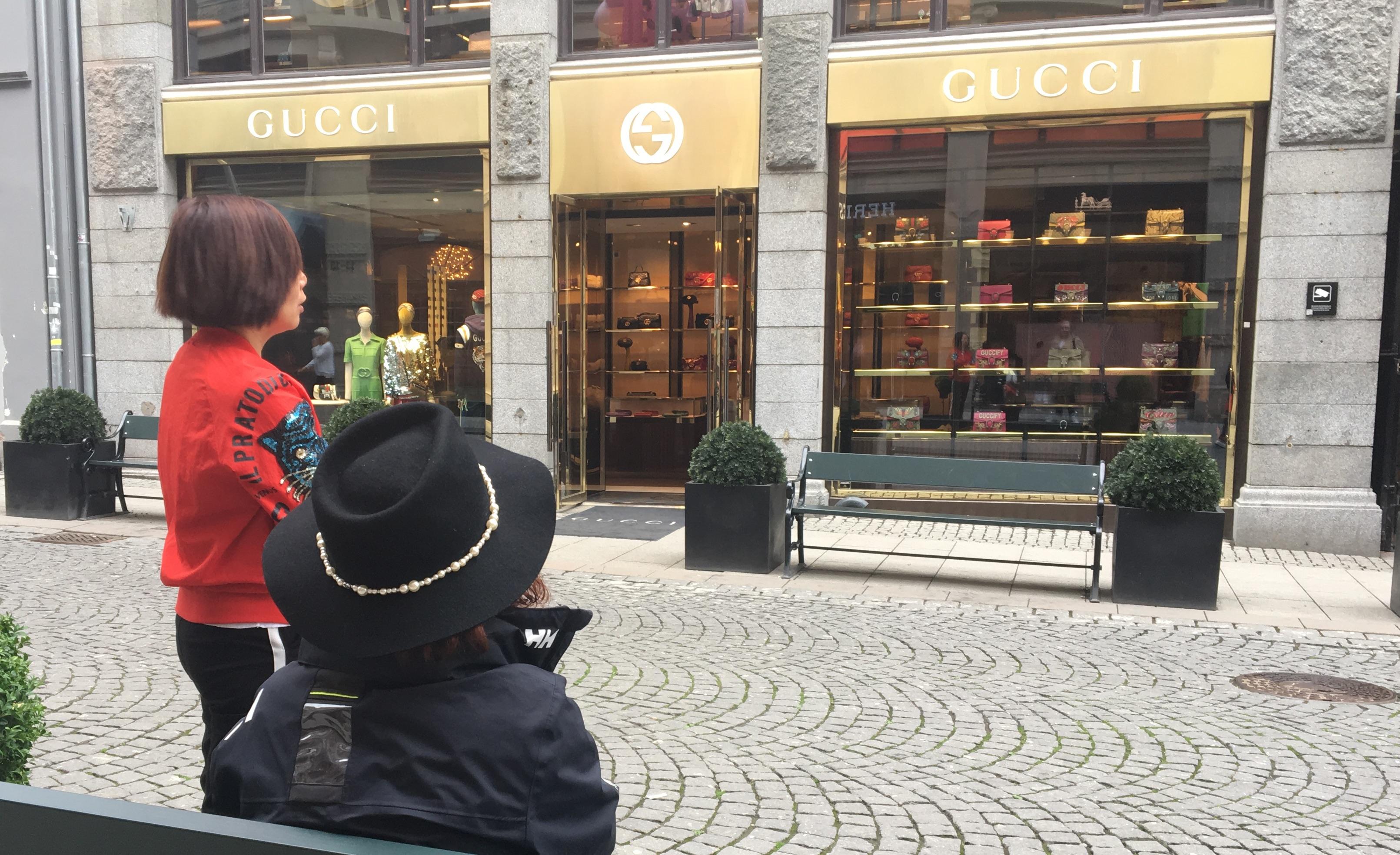Turister på shopping i Oslo
