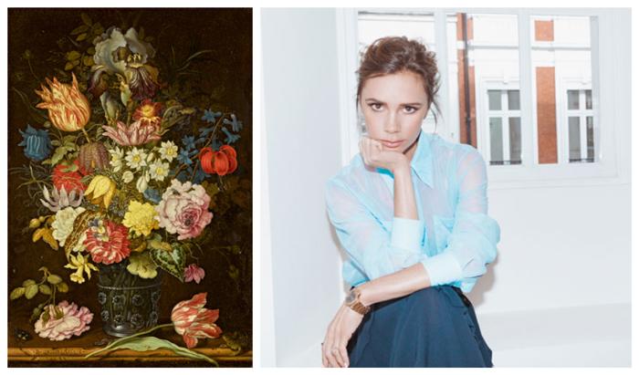 Victoria Beckham stiller ut de gamle mesterne i samarbeid med Sotheby's