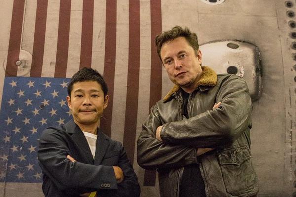 Inviterer med seg ni av sine favorittkunstnere til månen medElon Musk og SpaceX.