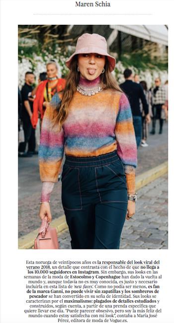 Maren Schia i Vogue