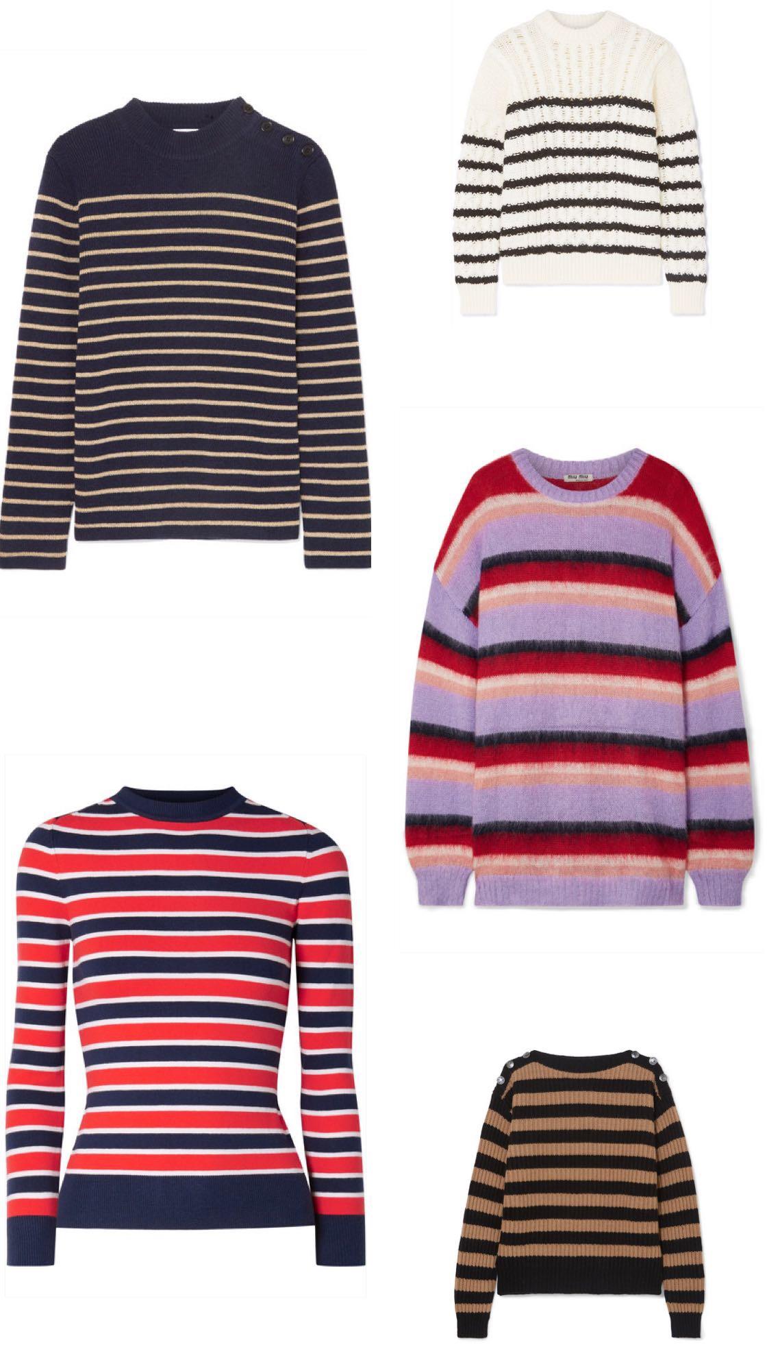 stripete gensere på luksus