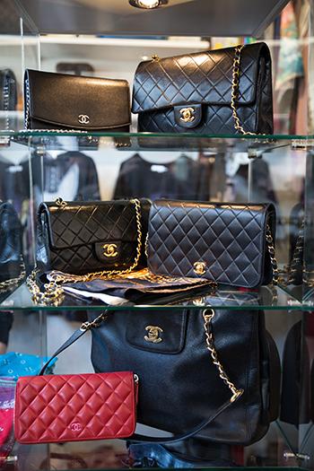 Chanel-vesker hos Velouria Vintage