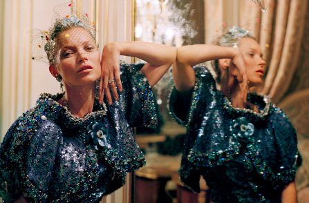 kate moss i chanel for vogue