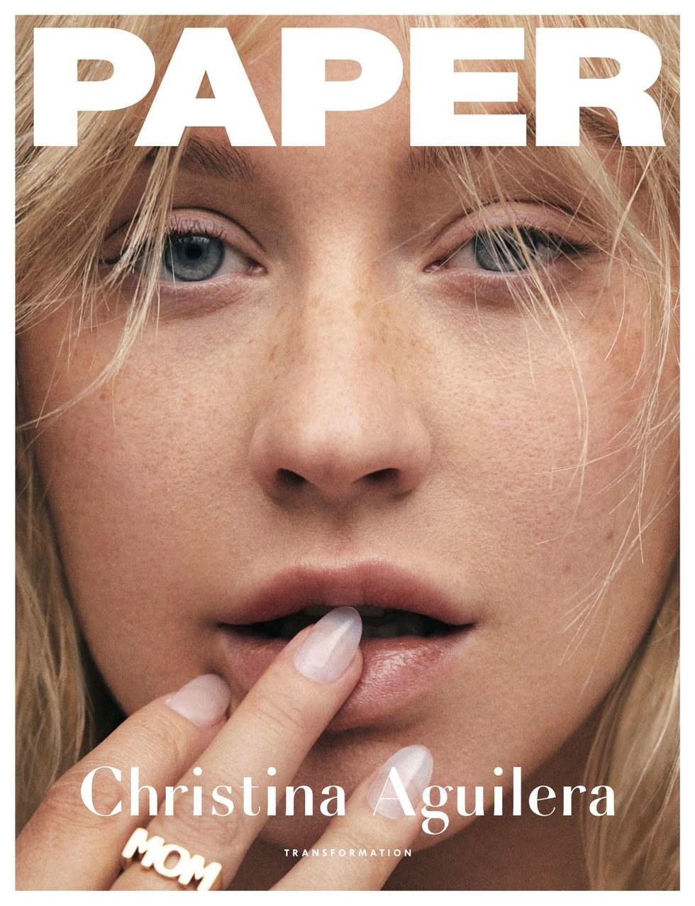 christina aguilera på forsiden av paper magazine