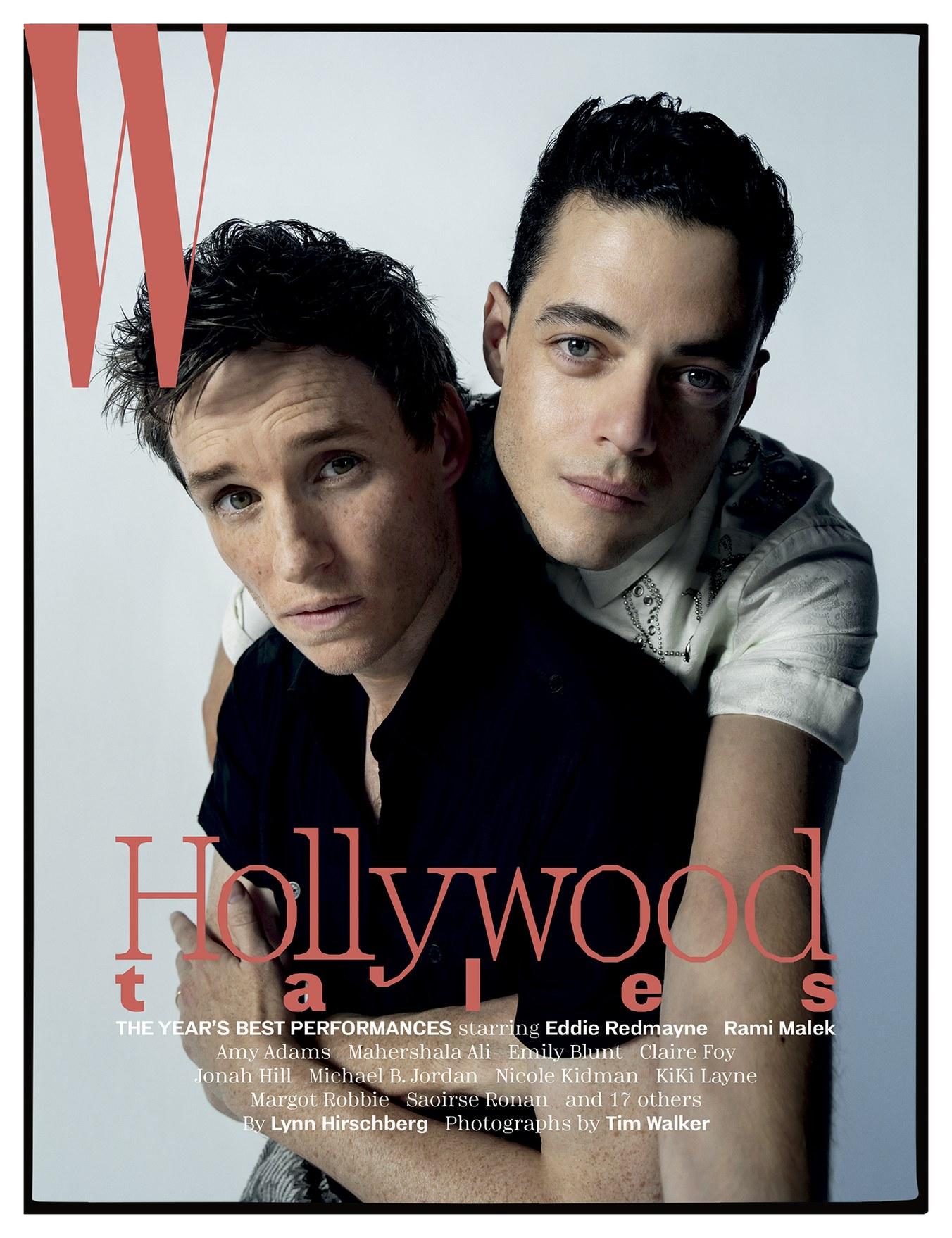 Rami Malek og Eddie Redmayne i W Magazine