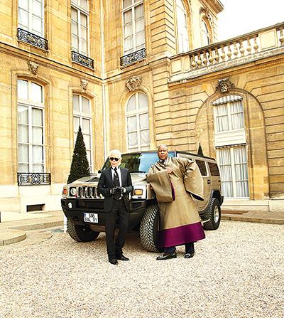 Karl Lagerfeld og André Leon Talley var nære venner