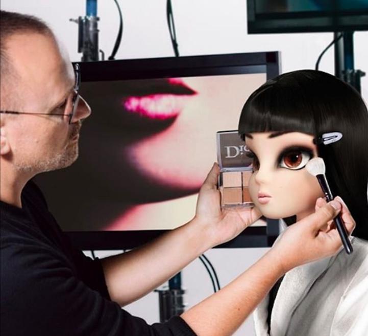 Dior brukte en kunstig modell til å fronte sin nyeste skjønnhetskampanje. foto: dior beauty