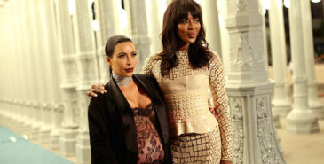 kim kardashian og naomi campbell. foto: getty images