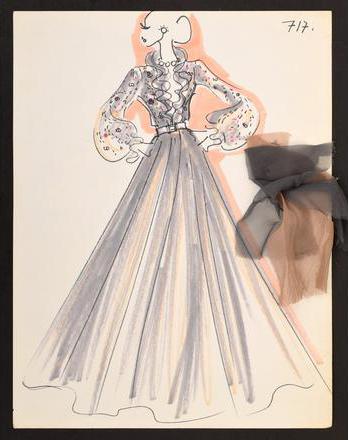 Karl Lagerfeld sine tegninger solgt på auksjon