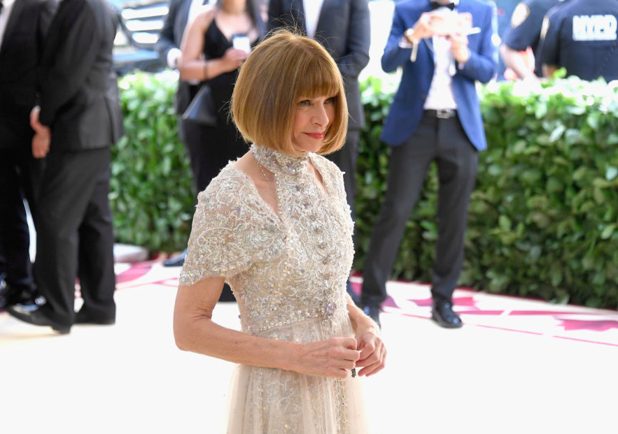 anna wintour på met gallaen 2018. foto getty images